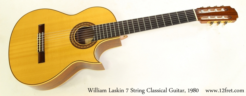 William Laskin 7 String Classical Guitar, 1980  Full Front View
