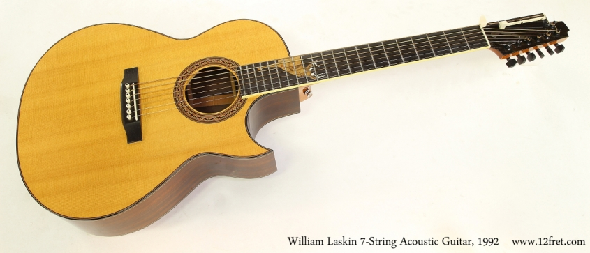 William Laskin 7-String Acoustic Guitar, 1992   Full Front View