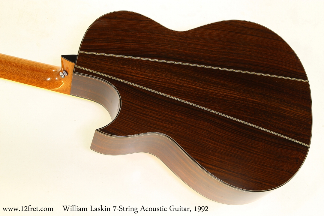 William Laskin 7-String Acoustic Guitar, 1992   Back View