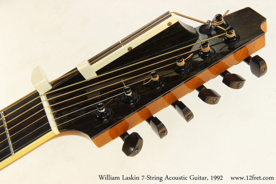 William Laskin 7-String Acoustic Guitar, 1992   Head Front View