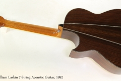 William Laskin 7-String Acoustic Guitar, 1992   Full Rear View