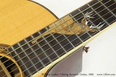William Laskin 7-String Acoustic Guitar, 1992   Inlay
