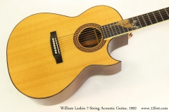 William Laskin 7-String Acoustic Guitar, 1992   Top View