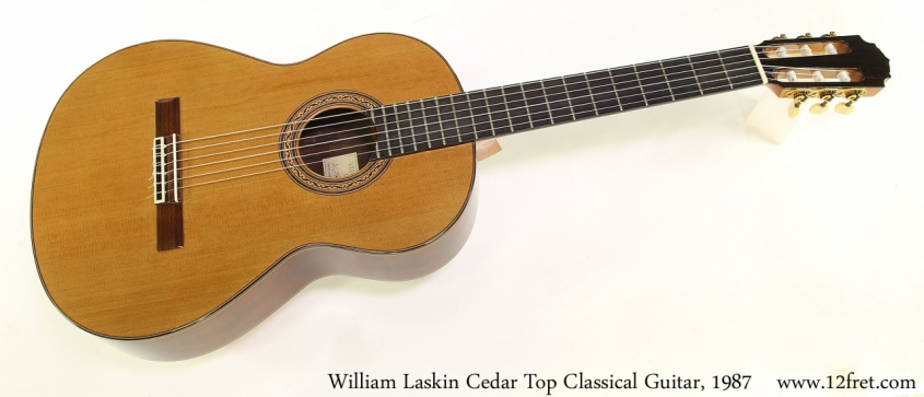 William Laskin Cedar Top Classical Guitar, 1987 Full Front View