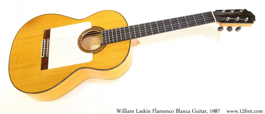 William Laskin Flamenco Blanca Guitar, 1987 Full Front View