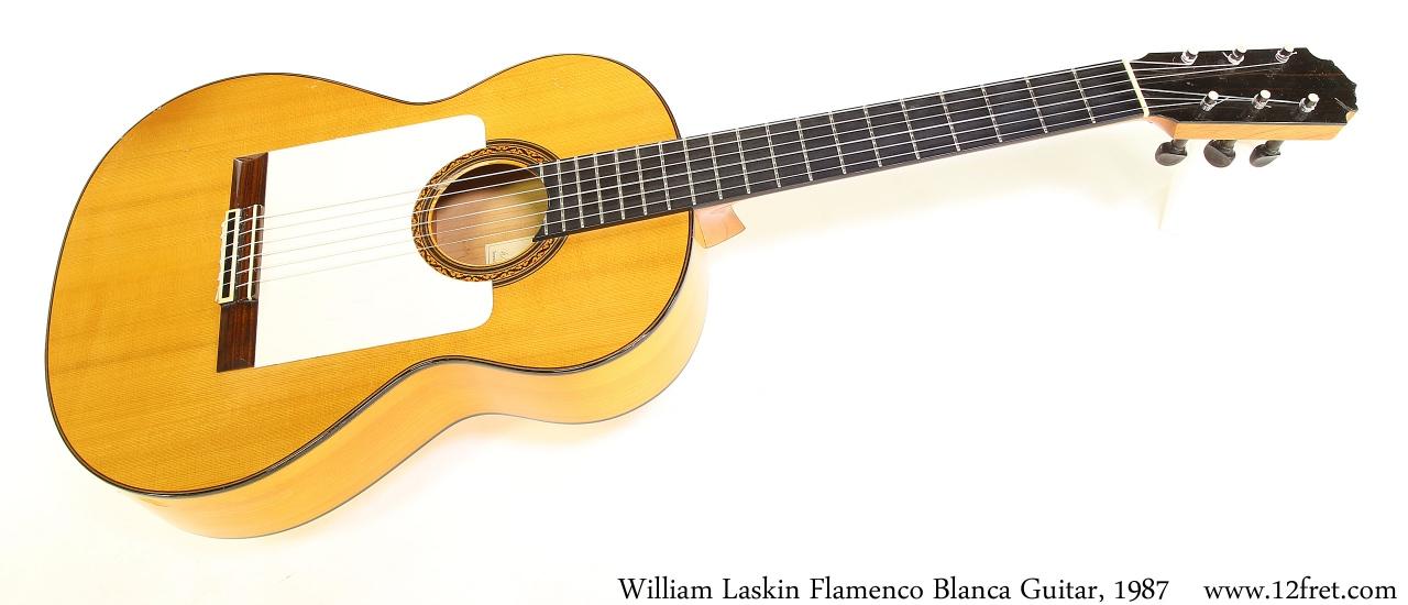 William Laskin Flamenco Blanca Guitar, 1987 Full Front View