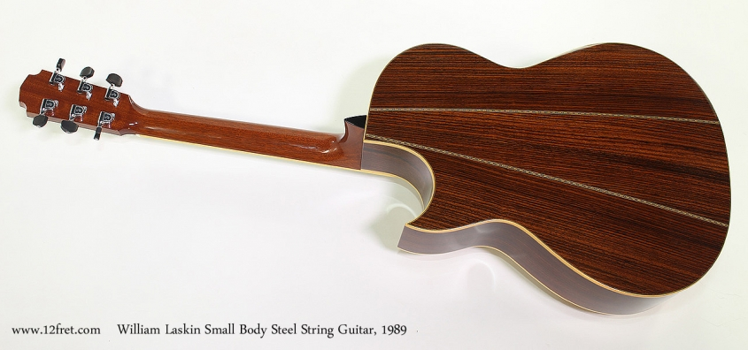 William Laskin Small Body Steel String Guitar, 1989 Full Rear View