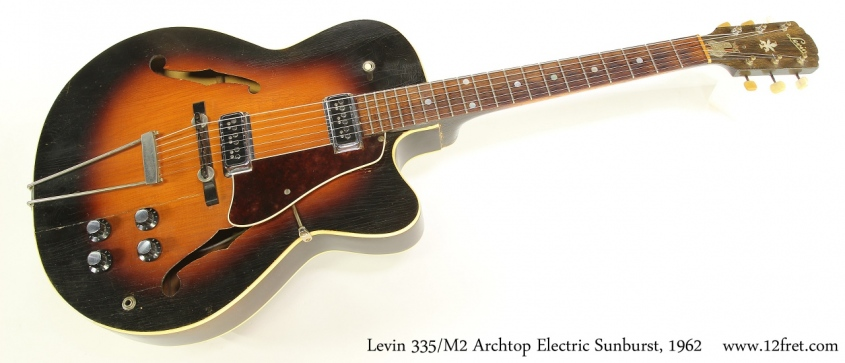 Levin 335/M2 Archtop Electric Sunburst, 1962 Full Front View