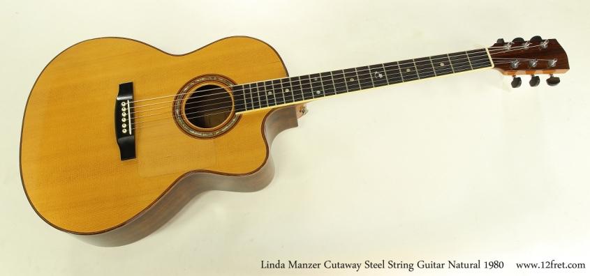 Linda Manzer Cutaway Steel String Guitar Natural 1980  Full Front View