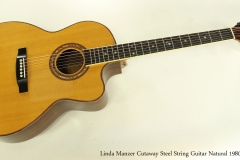 Linda Manzer Cutaway Steel String Guitar Natural 1980  Full Front View