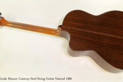 Linda Manzer Cutaway Steel String Guitar Natural 1980  Full Rear View