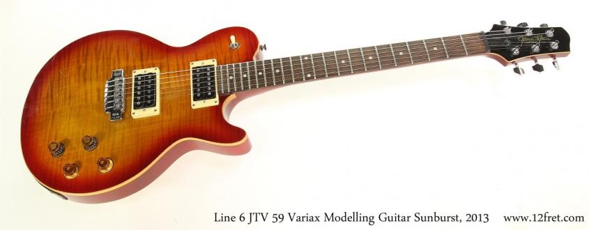 Line 6 JTV 59 Variax Modelling Guitar Sunburst, 2013 Full Front View