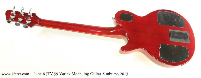 Line 6 JTV 59 Variax Modelling Guitar Sunburst, 2013 Full Rear View