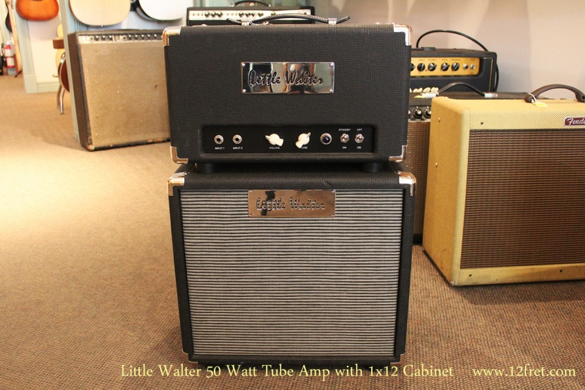 Little Walter 50 Watt Tube Amp with 1x12 Cabinet Full Front View