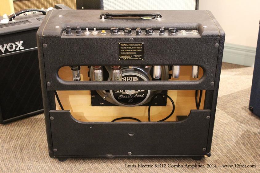 Louis Electric KR12 Combo Amplifier, 2014 Full Rear View