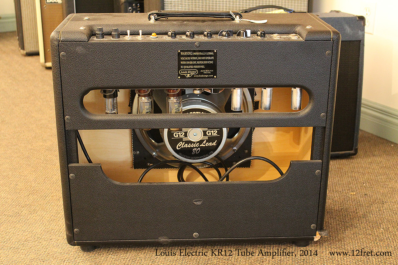 Louis Electric KR12 Tube Amplifier, 2014 Full Rear View