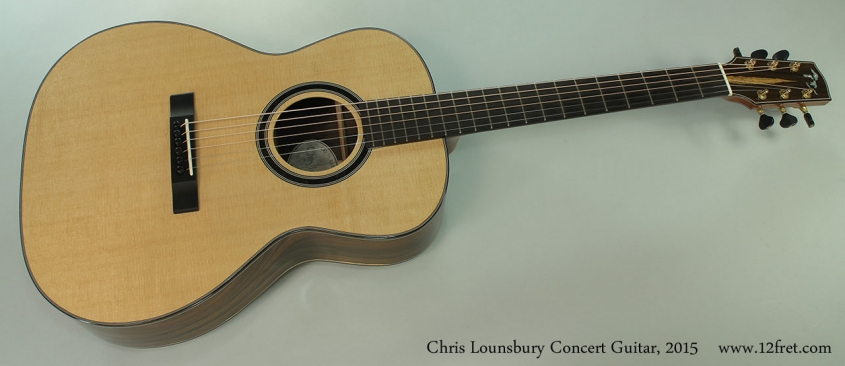 Chris Lounsbury Concert Guitar, 2015 Full Front View