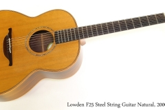 Lowden F25 Steel String Guitar Natural, 2000 Full Front View