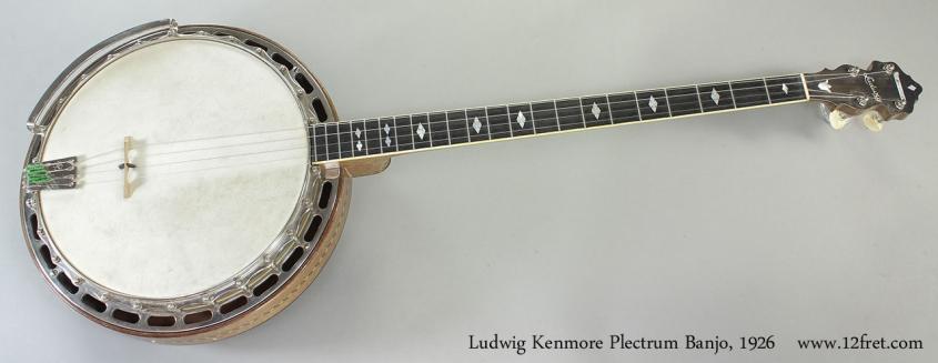 Ludwig Kenmore Plectrum Banjo, 1926 Full Front View