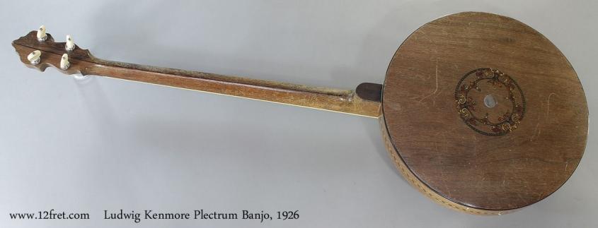 Ludwig Kenmore Plectrum Banjo, 1926 Full Rear View