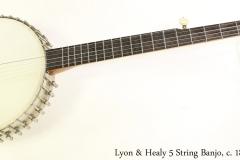 Lyon & Healy 5 String Banjo, c. 1895 Full Front View