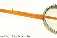 Lyon & Healy 5 String Banjo, c. 1895 Full Rear View