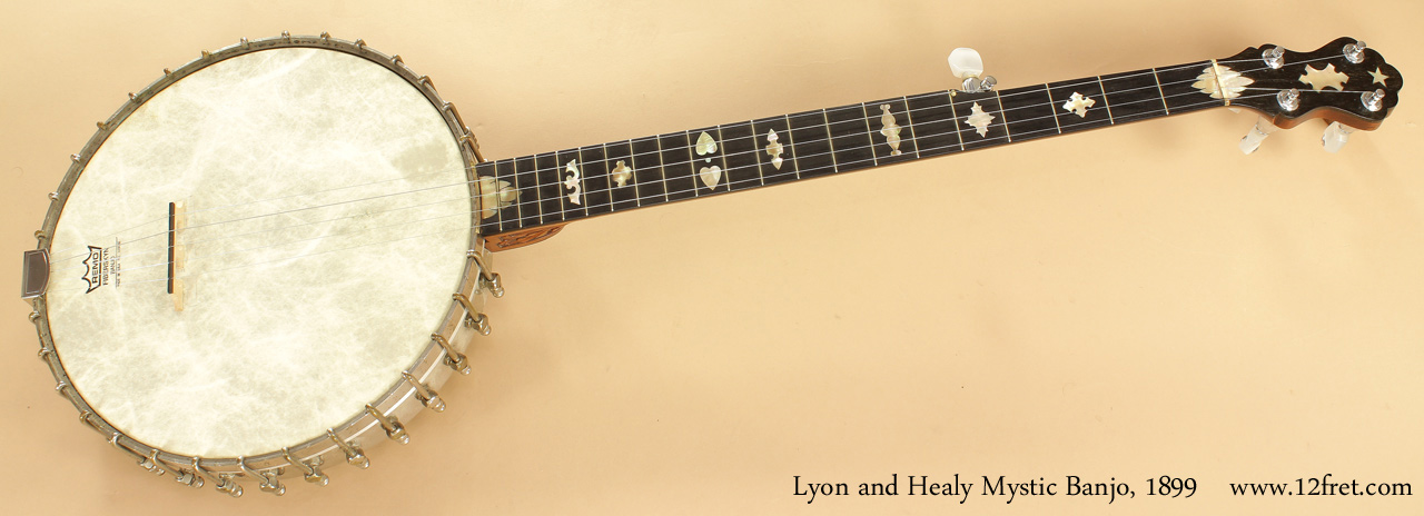 Lyon and Healy Mystic Banjo 1899 full front view