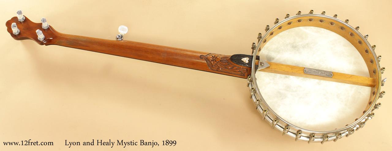 Lyon and Healy Mystic Banjo 1899 full rear view