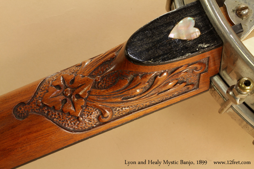 Lyon and Healy Mystic Banjo 1899 heel