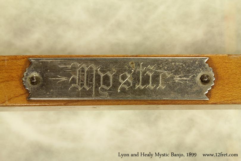 Lyon and Healy Mystic Banjo 1899 plaque