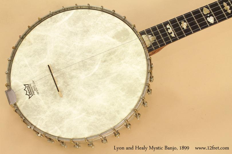 Lyon and Healy Mystic Banjo 1899 top