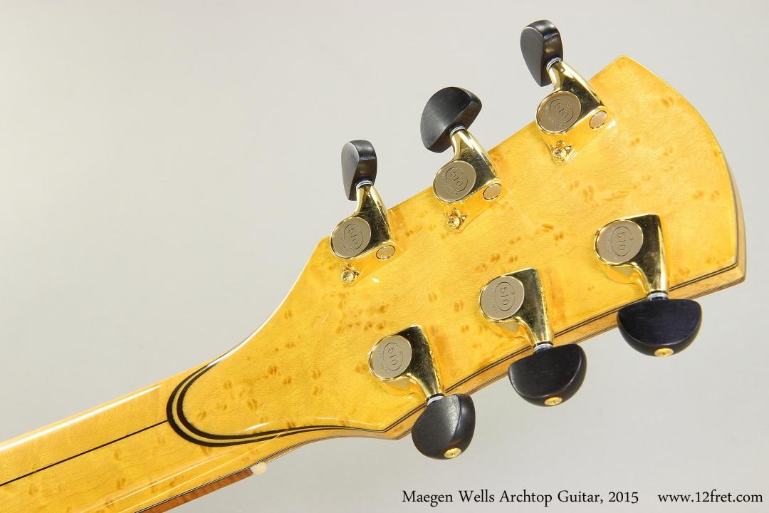 Maegen Wells Archtop Guitar, 2015  Head Rear View