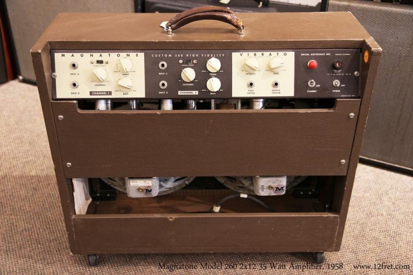 Magnatone Model 260 2x12 35 Watt Amplifier, 1958  Full Rear View