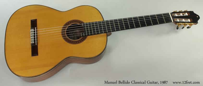 Manuel Bellido Classical Guitar, 1987 Full Front View