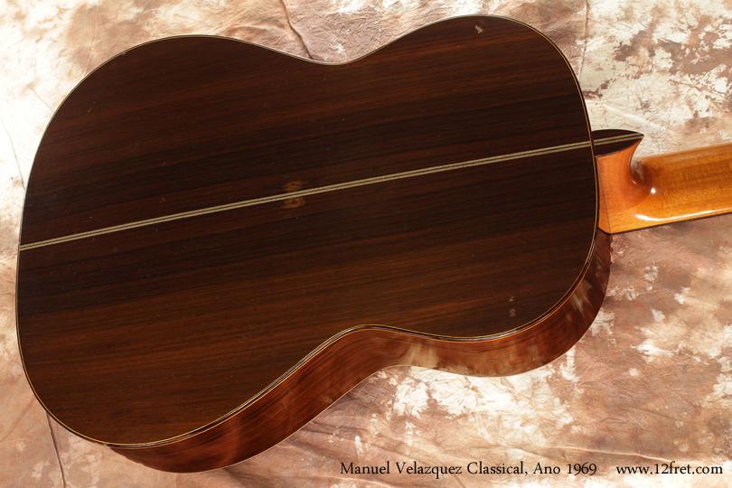 Manuel Velazquez Classical Guitar Ano 1969 back