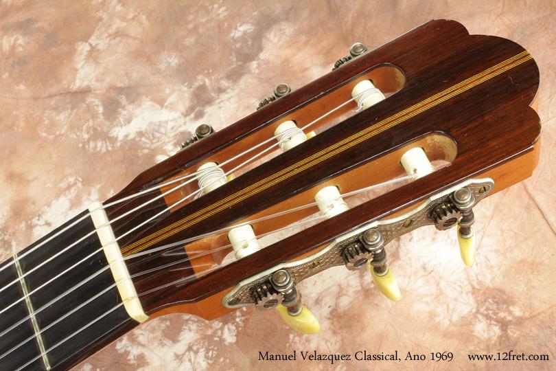 Manuel Velazquez Classical Guitar Ano 1969 head front