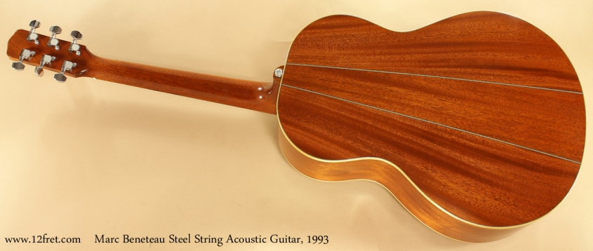 Marc Beneteau Steel String Acoustic 1993 full rear view