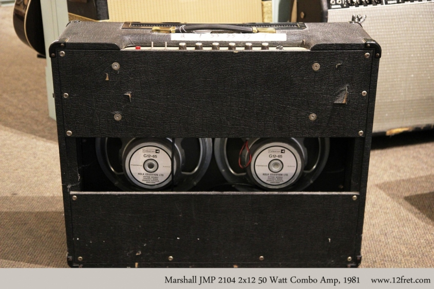 Marshall JMP 2104 2x12 50 Watt Combo Amp, 1981 Full Rear View
