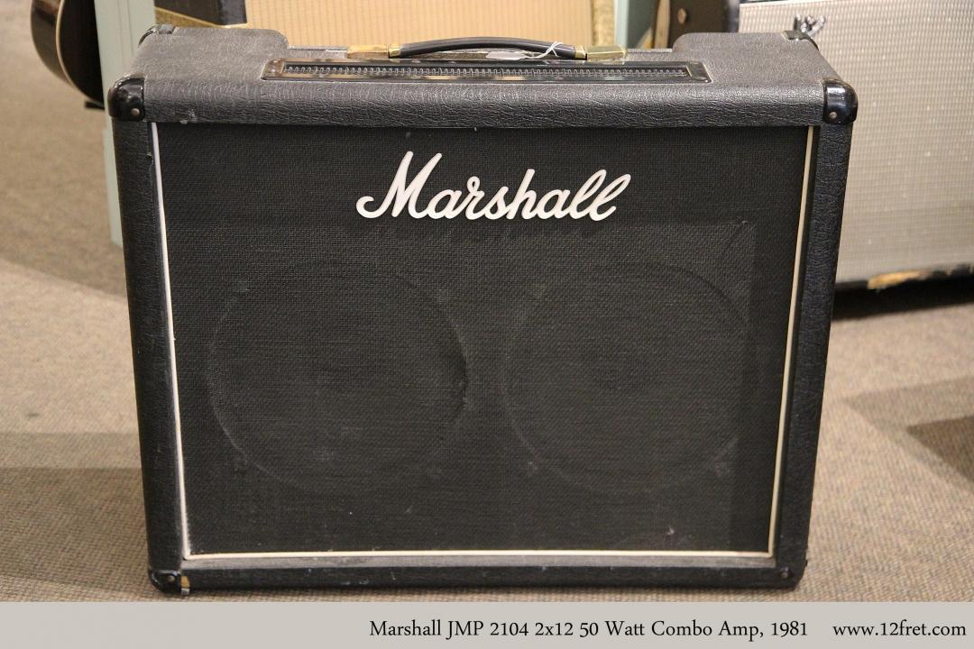 Marshall JMP 2104 2x12 50 Watt Combo Amp, 1981 Full Front View