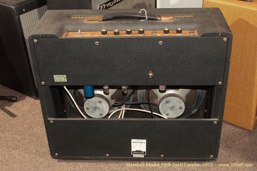 Marshall Model 1958 2x10 Combo 1972 full rear view