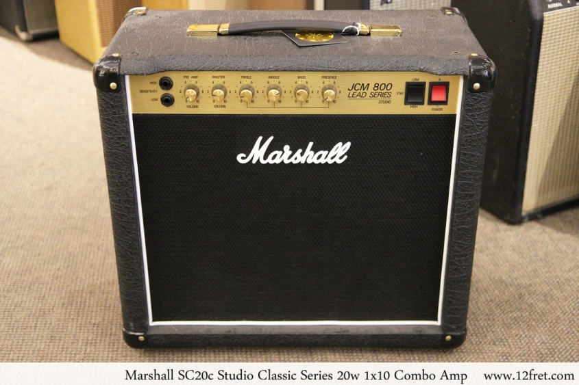Marshall SC20c Studio Classic Series 20w 1x10 Combo Amp Full Front View