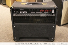 Marshall SC20c Studio Classic Series 20w 1x10 Combo Amp Full Rear View