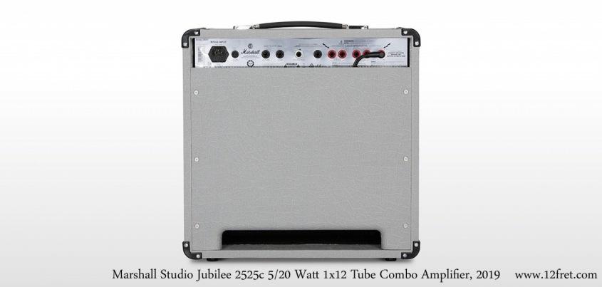 Marshall Silver Jubilee Studio 2525c 5/20 Watt 1x12 Tube Combo Amplifier Full Rear View