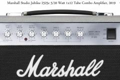 Marshall Silver Jubilee Studio 2525c 5/20 Watt 1x12 Tube Combo Amplifier Front Controls