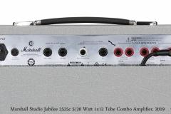 Marshall Silver Jubilee Studio 2525c 5/20 Watt 1x12 Tube Combo Amplifier Rear Panel View