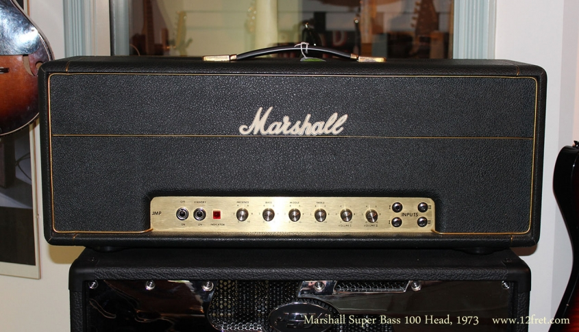 Marshall Super Bass 100 Head, 1973 Full Front View