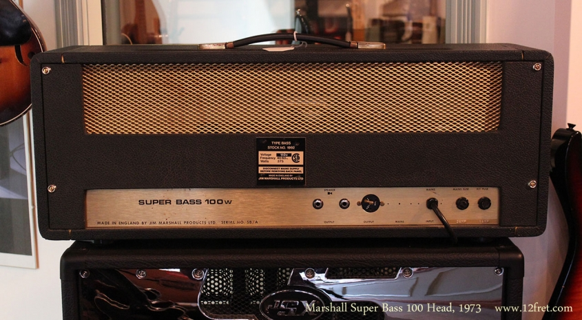 Marshall Super Bass 100 Head, 1973 Full Rear View