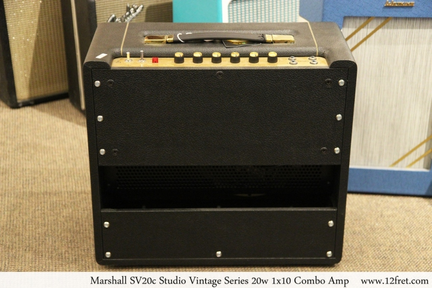 Marshall SV20c Studio Vintage Series 20w 1x10 Combo Amp Full Rear View