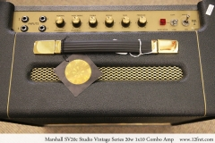 Marshall SV20c Studio Vintage Series 20w 1x10 Combo Amp Controls Top View