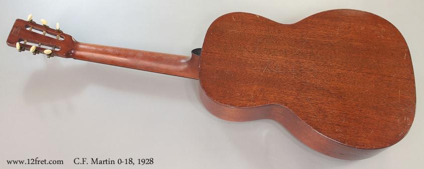 C.F. Martin 0-18, 1928 Full Rear View